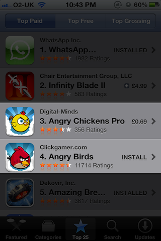 Birds vs Chickens on the App Store