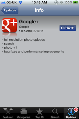 New Google+ for iOS icon
