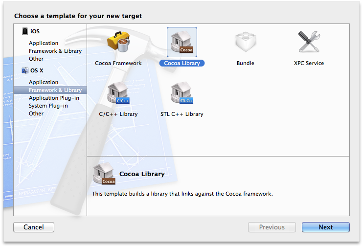 Library choices on OS X